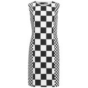 Love Moschino Women's Printed Shift Dress - Black/White