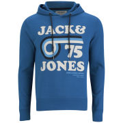 Jack and Jones Men's Carl Sweat Hoody - Mykonos Blue