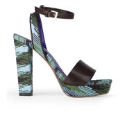M Missoni Women's Cyber Knit Heeled Sandals - Verde