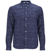 Uniforms for the Dedicated Men's Button-Down Seducer Shirt - Navy/White