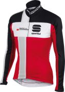 Sportful Gruppetto Men's Partial WS Jacket - Red/White/Grey