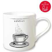 Victoriana Porcelain Mug - Coffee Addict