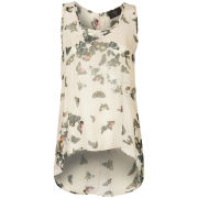 AX Paris Women's Butterfly Chiffon Vest - Cream