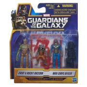 Guardians of the Galaxy Groot, Rocket Raccoon and Nova Corps Officer Action Figures