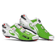 Sidi Wire Carbon Vernice Cycling Shoes -  White/Green - 2015