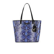 Diane von Furstenberg Women's Heritage Print Ready to Go Leather Tote Bag - Python Medium Blue