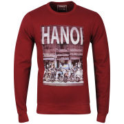 Osaka Men's Hanoi Photo Print Crew Neck Sweatshirt - Burgundy