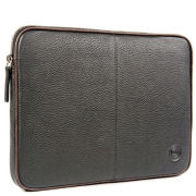 dbramante1928 Leather 12Inch Netbook Case - Black with Brown Piping