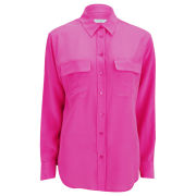 Equipment Women's Signature Shirt - Magenta