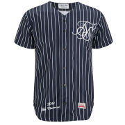 Sik Silk Men's Baseball Shirt - Classic Navy