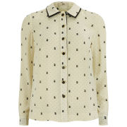 Orla Kiely Women's Ditsy Cat Print Shirt - Chalk