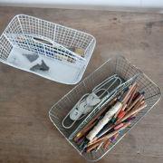 Nkuku Ashu Storage Tray - Distressed White - 13cm(H) x 32cm(W) x 21cm(D)
