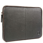 dbramante1928 Leather Laptop Case 13 Inch - 14 Inch - Black and Brown Piping
