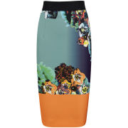 MILLY Women's Long Pencil Skirt - Multi - XS XSMulti