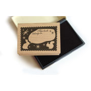 Lollipop Bookplate Stamp Set: Rabbit
