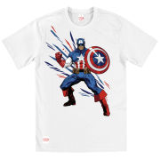 Creative Distribution Captain America Mens T-Shirt - White Shogun product image