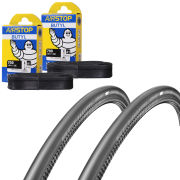 Schwalbe One Folding Clincher Tyre Twin Pack with 2 Free Tubes - 700 x 25C