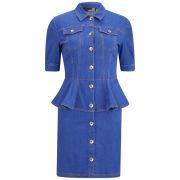 Love Moschino Women's Denim Peplum Dress - Blue