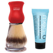 men-u Premier Shaving Brush & Stand - Red