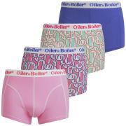 Oiler & Boiler Men's 4-Pack Print Boxers - Europe
