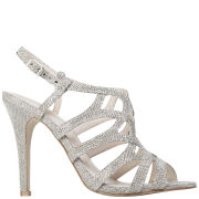 Miss KG Women's Gertrude Glitter Strappy Heeled Sandals - Silver
