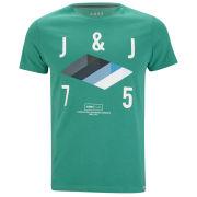 Jack & Jones Mens Abstract T-Shirt - Green Lake