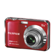 Fujifilm FinePix AX650 Compact Digital Camera (16MP, 5x Optical Zoom, 2.7 Inch LCD) - Red