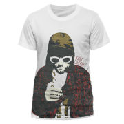 Kurt Cobain Mens T-Shirt - Posterized - L L