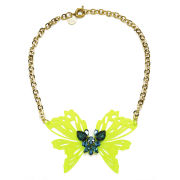 Matthew Williamson Neon Butterfly Necklace - Yellow