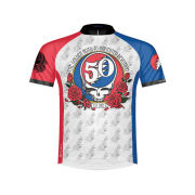 Primal Grateful Dead 50th Anniversary Short Sleeve Jersey - White/Red/Blue/Black