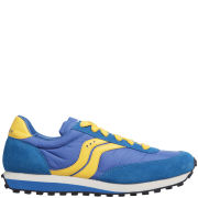 Saucony Men's Trainer 80 Vintage Look Trainers - Blue/Yellow