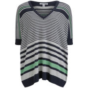 Autumn Cashmere Women's Top - Navy/Hemp/Spearmint