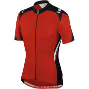 Castelli Vincente Full Zip Jersey - Red/Black