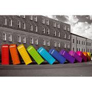 London Phoneboxes Falling - Maxi Poster - 61 x 91.5cm