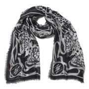 Matthew Williamson Wing Lace Long Strip Scarf - Silver