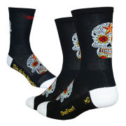 DeFeet Aireator Sugarskull Tall Socks - Black/White