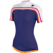 Sportful Allure Women's Short Sleeve Jersey - Purple/White