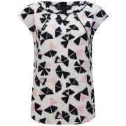 Marc by Marc Jacobs Women's Pinwheel Print Sporty Silk Top - Agave Nectar Multi