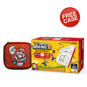 Nintendo 2DS White & Red Console: Bundle includes New Super Mario Bros. 2 + Red Mario 2DS Case