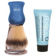 men-ü DB Premier Synthetic Bristle Shaving Brush with Chrome Stand - Blue