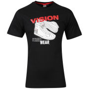 Vision Men's Sneaker T-Shirt - Black