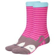 Joules Junior Neat Feat Socks - Ruby Pink