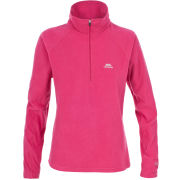 Trespass Women's Shiner 1/2 Zip Fleece - Pansy
