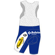 Vermac Topsport Vlaanderen Baloise Team Replica Bib Shorts - White/Blue