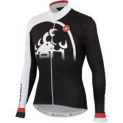 Castelli Sublime Long Sleeve Full Zip Jersey - Black/White