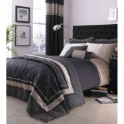 Luxury Geo Duvet Cover - Black