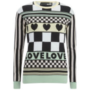 Love Moschino Women's Printed Pastel Knitted Jumper - Multi