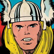 Marvel Comics - Thor Close-Up - 40x40cm Canvas