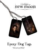 Twilight New Moon Epoxy Dog Tags - Edward and Bella
