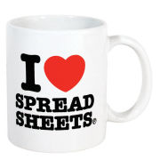 I Heart Spreadsheets Mug